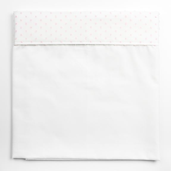 Moses Top Sheet - Spot Voile White