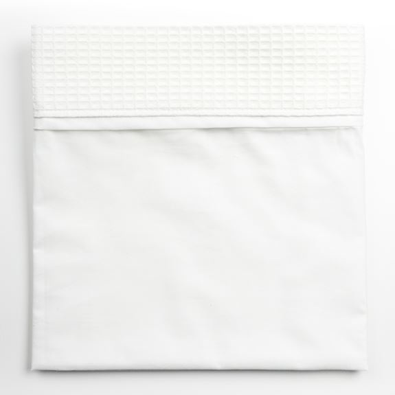 Moses Top Sheet - Waffle White Trim