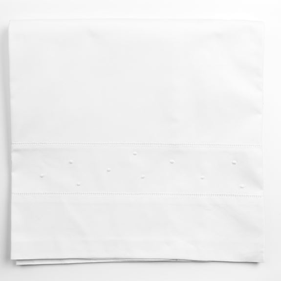Cot Bed Sheet - Polka Dot White