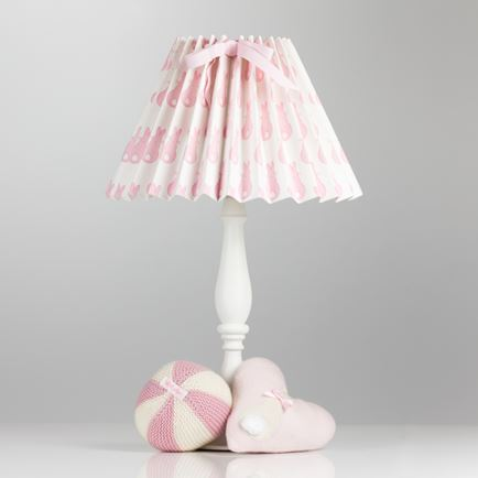Pleated Lampshade - Rabbit Trellis Pink
