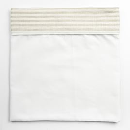 Cot Bed Sheet - Linen Stripe
