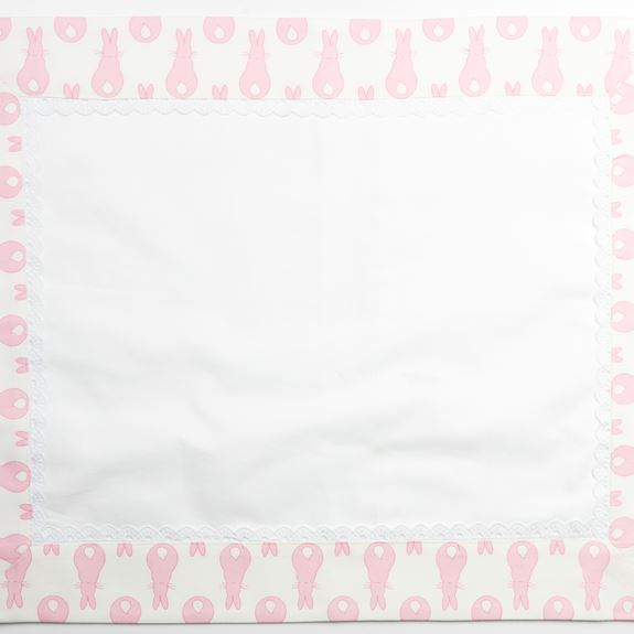 Pillowcase - Rabbit Trellis Blue