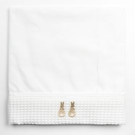 Moses Top Sheet - Embroidered Bunny Beige