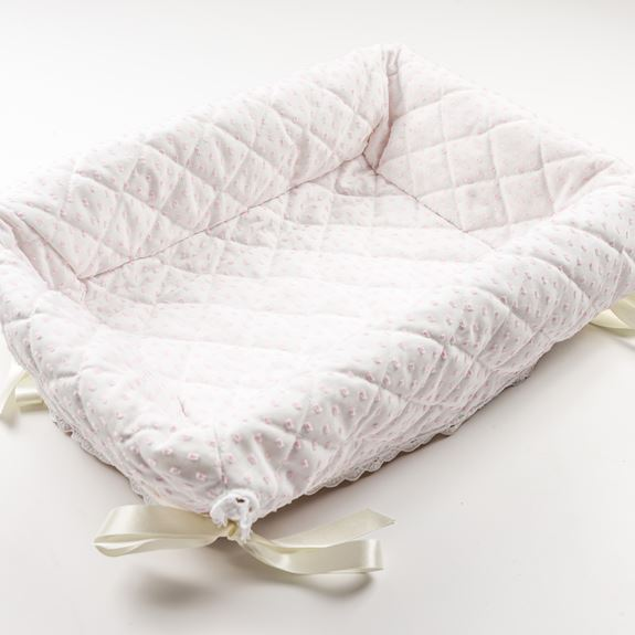 Layette Basket - Spot Voile Pink