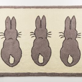 Large Rabbit Rug - Grey