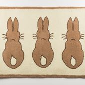 Large Rabbit Rug - Beige