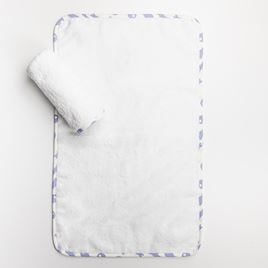 Baby Cloths - Rabbit Trellis Blue