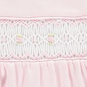Mini La Mode- Smocked Pink Babygrow