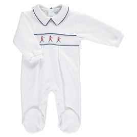 Winter Weight Smocked Babygrow - Soldiers