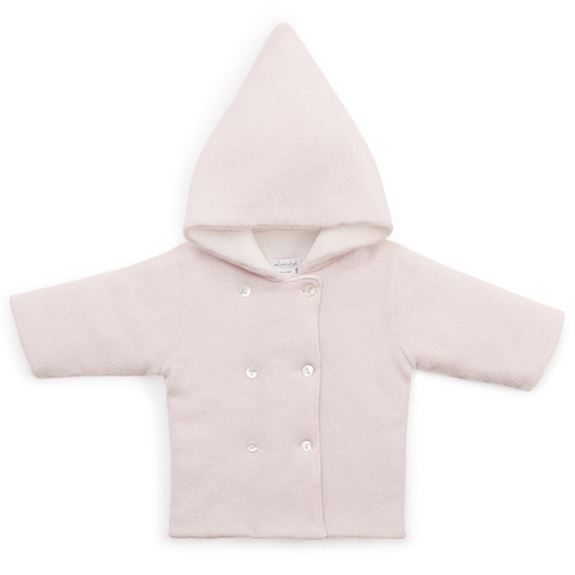 Pink Cashmere Hooded Coat
