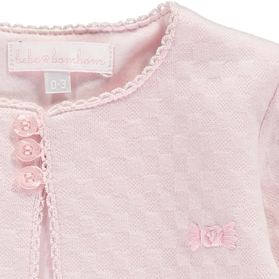 Embroidered Cardigan - Pink