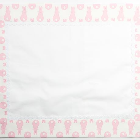 Pillowcase - Rabbit Trellis Cream