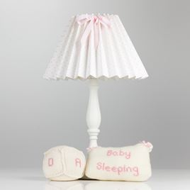 Pleated Lampshade - Spot Voile Pink