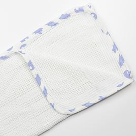 Cellullar Edged Pram Blanket