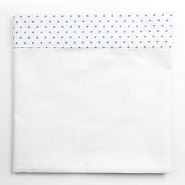 Cot Bed Sheet - Spot Voile Blue