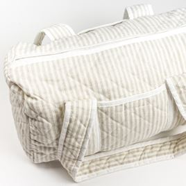 Weekend Changing Bag - Linen Stripe