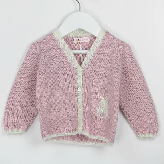 Cashmere Bunny Cardigan - Pink