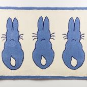 Rabbit Rug - Blue