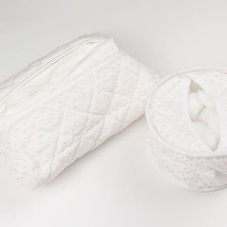 Cotton Wool Holder or Tissue Cover - Spot Voile Pink