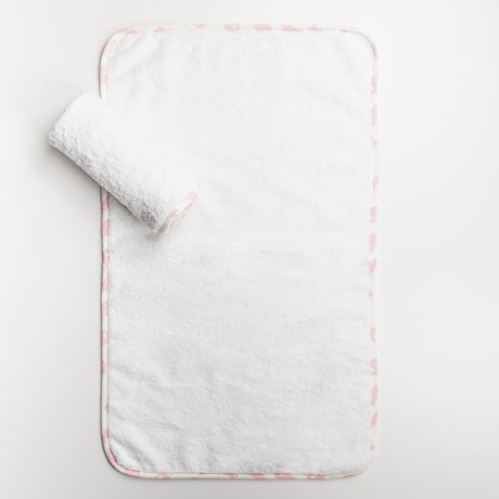 Baby Cloths - Rabbit Trellis Pink