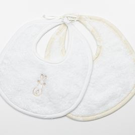 Baby Bib Set - Cream