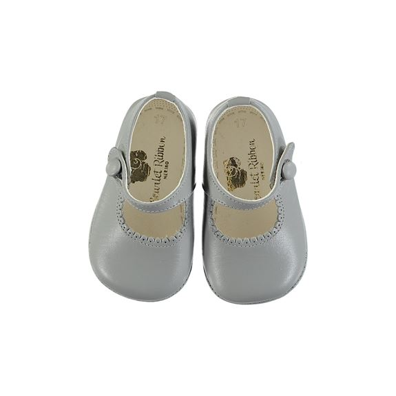 Handmade Leather Shoes - Grey
