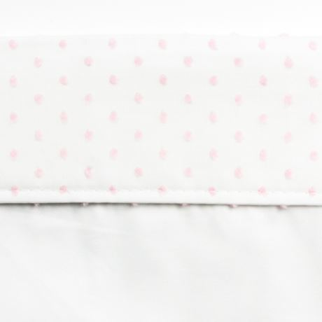 Cot Bed Sheet - Spot Voile Pink