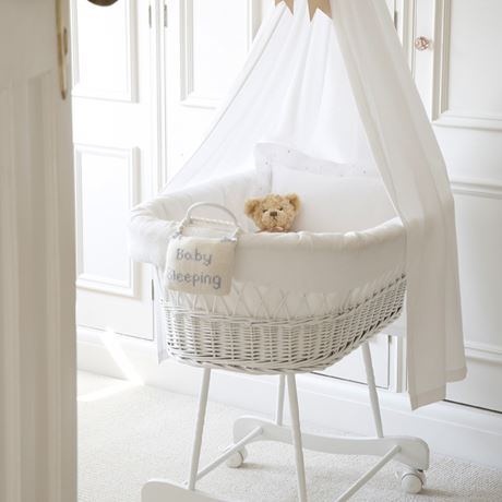 White Wicker Crib