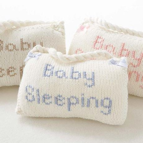 Cashmere 'Baby Sleeping' Sign