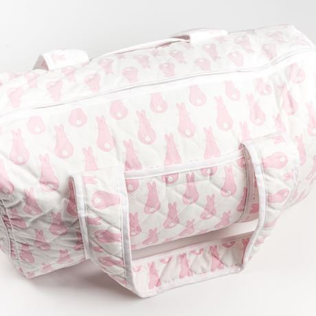 Weekend Changing Bag - Rabbit Trellis Pink