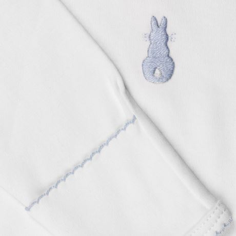 Embroidered Bunny Nightie- Blue