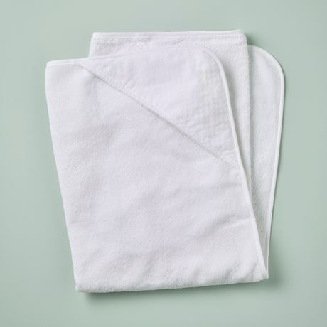 Hooded Towel - Spot Voile White